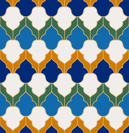 persian culture: seamless islamic geometric pattern Illustration