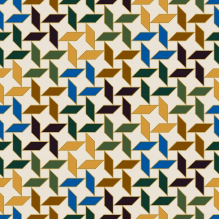 ksztaÅ't: islamski geometryczny wzór bez szwu Ilustracja