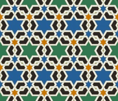 古美術品: シームレスなイスラム幾何学模様