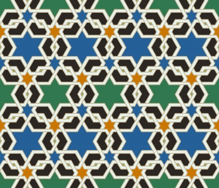 seamless islamic geometric pattern Ilustrace