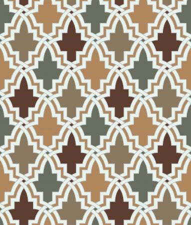 원활한 이슬람 기하학적 패턴 일러스트