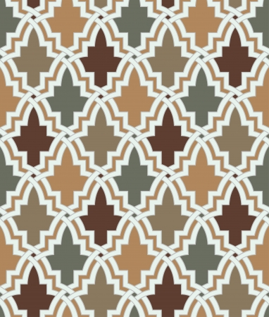Nahtlose islamischen geometrische Muster Standard-Bild - 24023697