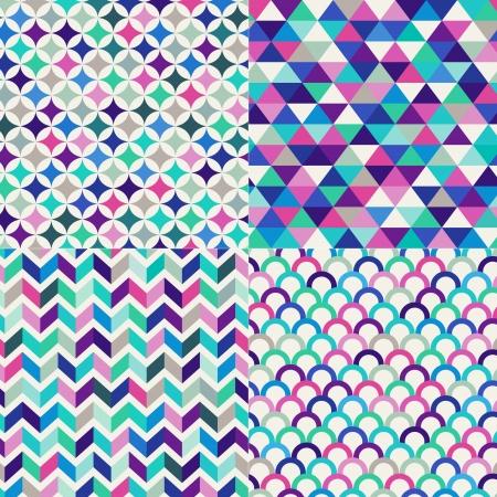 naadloze kleurrijke geometrische patroon Stock Illustratie