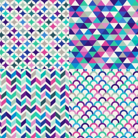 pop art herringbone pattern: seamless colorful geometric pattern Illustration