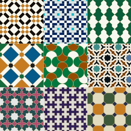 seamless islamic tile geometric pattern  Vector