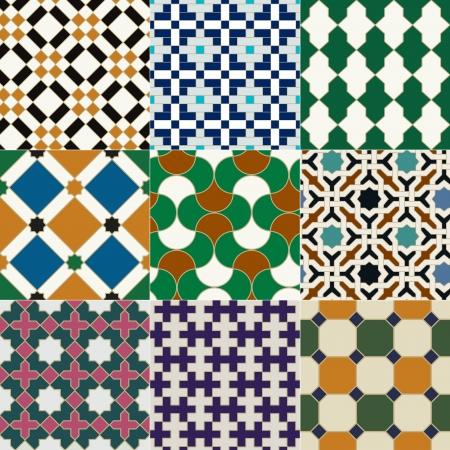 mosaic wall: seamless islamic tile geometric pattern