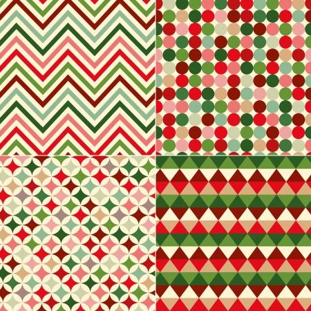 colores de la Navidad sin fisuras patrón geométrico Vectores