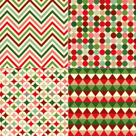 seamless christmas colors geometric pattern  Çizim