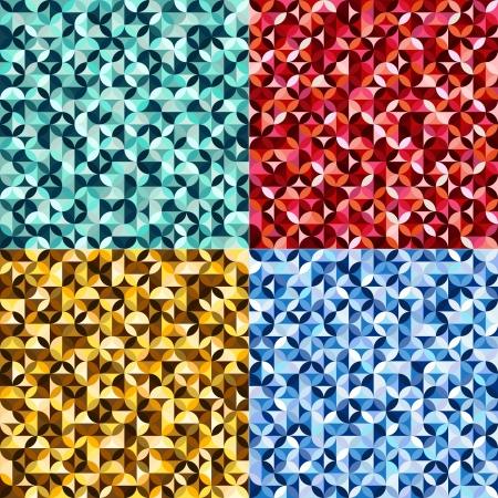 repeated: seamless geometric circular pattern