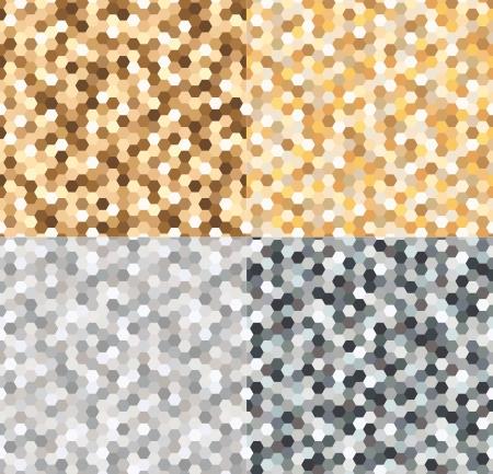motif or et taches argentées transparente