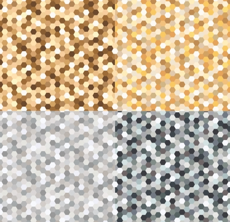 seamless gold and silvery spots pattern  Vector