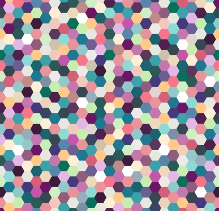 seamless colorful hexagonal spots pattern  Vector