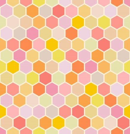 warm colours: patr�n hexagonal perfecta