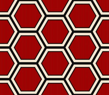 naadloze moderne oranje zeshoekig patroon