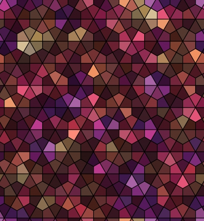 seamless black hexagonal pattern  Vector