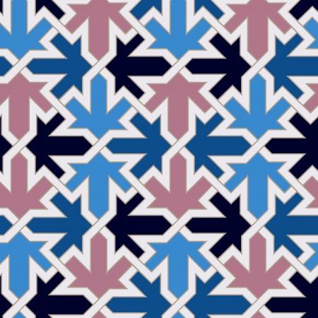 patrón de mosaico islámico marroquí sin fisuras