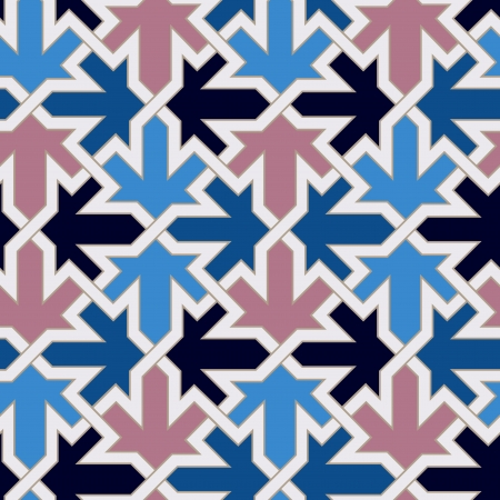 geometry: seamless moroccan islamic tile pattern  Illustration