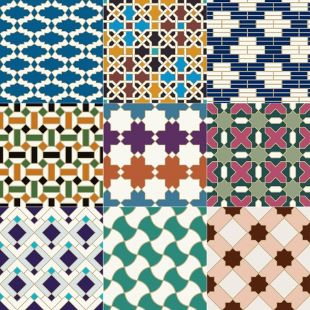 seamless moroccan islamic tile pattern  向量圖像
