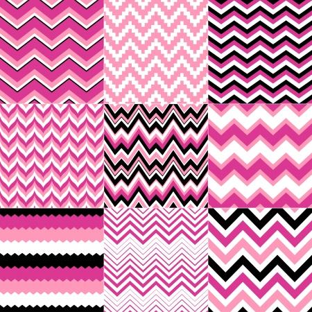 rosa: nahtlosen Zickzack Muster Illustration