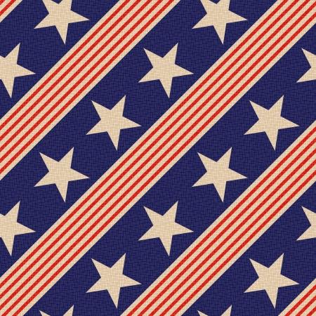 シームレスな愛国的な星の背景 写真素材 - 24374097