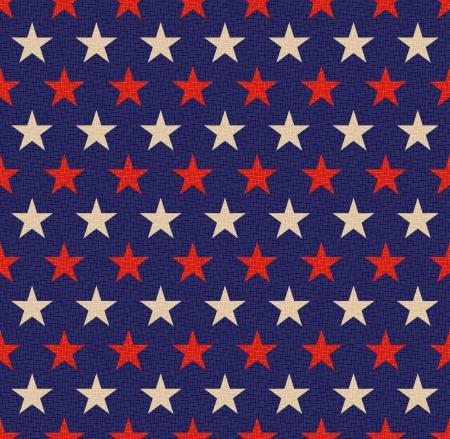 americana: seamless patriotic stars background