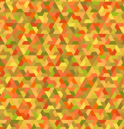 seamless geometric orange green pattern Vector