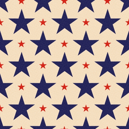 grunged: seamless patriotic stars background