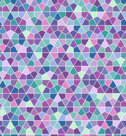 indigo: Seamless geometric hexagonal pattern