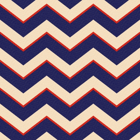 seamless patriotic zig zag stripes  Vector