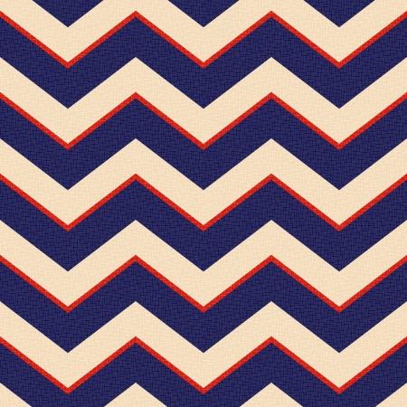 americana: seamless patriotic zig zag stripes