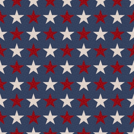 americana: seamless patriotic stars