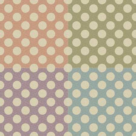 seamless polka dots texture background Vector