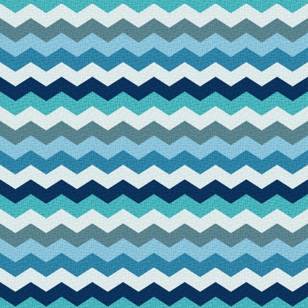 fabrics: seamless retro zig zag pattern  Illustration
