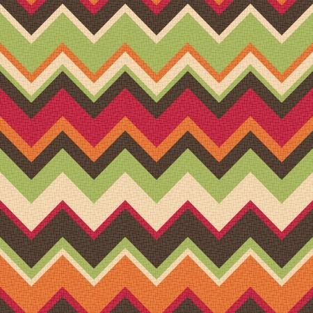 seamless retro zig zag pattern  Vector