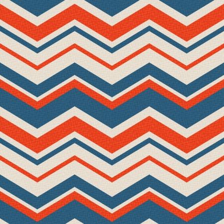 seamless retro zig zag pattern  Vectores