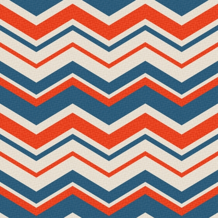 zig: seamless retro zig zag pattern  Illustration