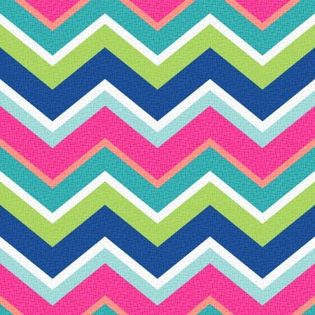 rayas de colores: retro sin patr�n de zig zag Vectores