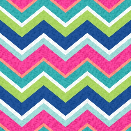 turquoise wallpaper: seamless retro zig zag pattern  Illustration