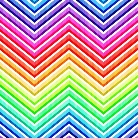 seamless colorful rainbow chevron pattern  Vector