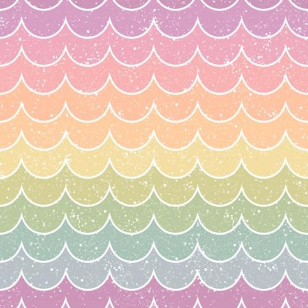 papel tapiz: patrón de la onda retro sin fisuras