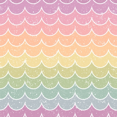 seamless retro wave pattern  Vector