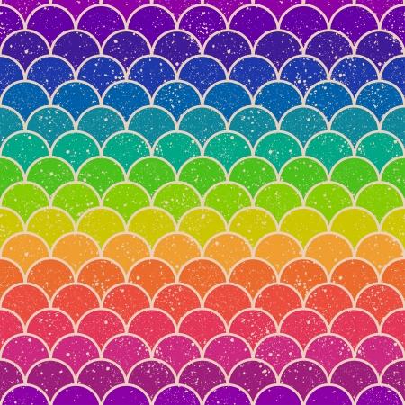 dekorativa mönster: sömlös färgglada regnbåge sparremönster Illustration