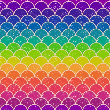 rainbow circle: seamless colorful rainbow chevron pattern  Illustration