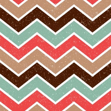 seamless retro chevron pattern  Vectores