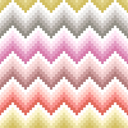seamless pixelated chevron pattern Stock Vector - 24555077