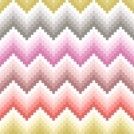 seamless pixelated chevron pattern Stock Vector - 24555077