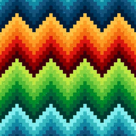 patrón de chevron pixelada perfecta