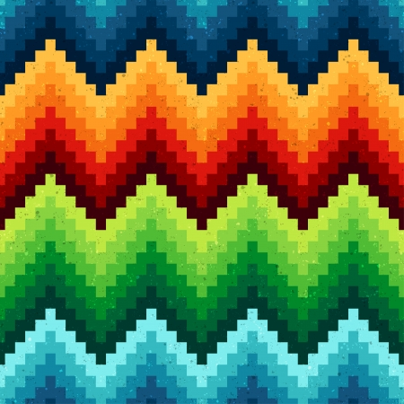seamless pixelated chevron pattern Stock Vector - 24570001