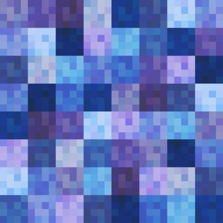 indigo: seamless multicolor squared tiles pattern Illustration