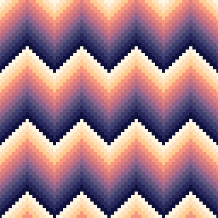 seamless pixelated chevron pattern Vector
